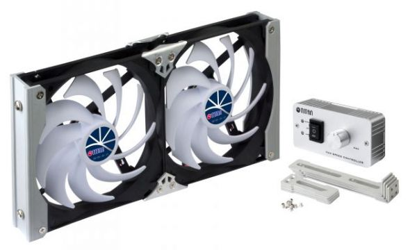 Kühlschrank-Doppellüfter TTC-SC09TZ(C) 140x25mm auf 12V Gleichstrom-Anschluß